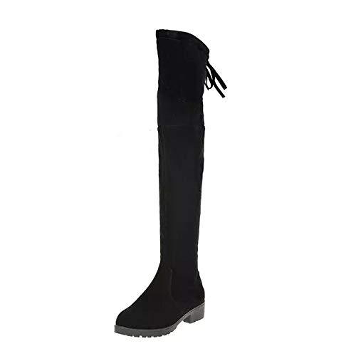 POLP Botas Mujer Invierno para Vestir Botas Altas Mujer Botas de Cuña Botines de Tacón Mujer Zapatos...