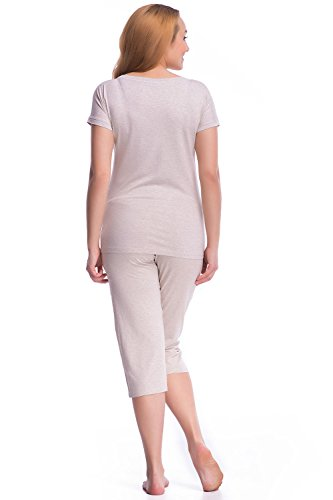 Dn-Nightwear PW.7031 Unique Pyjama Tres Attrayant Beige