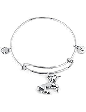 LILLY LACE vintage silber Damen Schmuck Armband mit Anhänger für Frauen und Mädchen schöner retro Armreif mit...