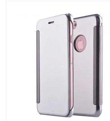 Vandot 2 en 1 Etui pour iPhone 8 Plus Souple TPU Silicone Housse Clair Transparente Coque pour iPhone 8 Plus / iPhone 7 Plus Ultra Mince Ultra Léger Cover Absorption de Choc Antidérapant Anti-rayures  Flip- Argent