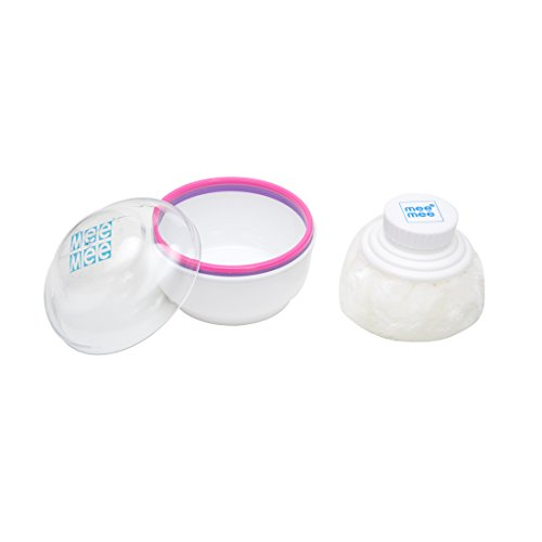 Mee Mee Premium Powder Puff with Powder Storage (Pink)
