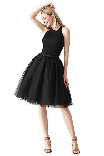 MisShow 2019 Tüllrock Tutu Petticoat Unterrock Tütü Karneval One Size - Sommer Ball Kostüm