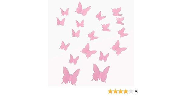 Walplus Autocollant mural Autocollant Mur Art Rose Singe Fleur avec 3D rose papillons