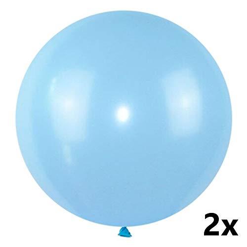 Pastell Luftballon, Riesen Luftballons, Pastellfarben Latex-Ballons, Pastell-Ballons für Partydeko, Deko Hochzeit, Jumbo Ballons (blau) ()