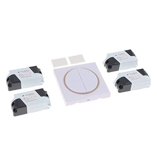 Homyl DC15-120V Relais Lampe Licht Schalter LED Birne Wireless Schalter Inkl. Fernbedienung -