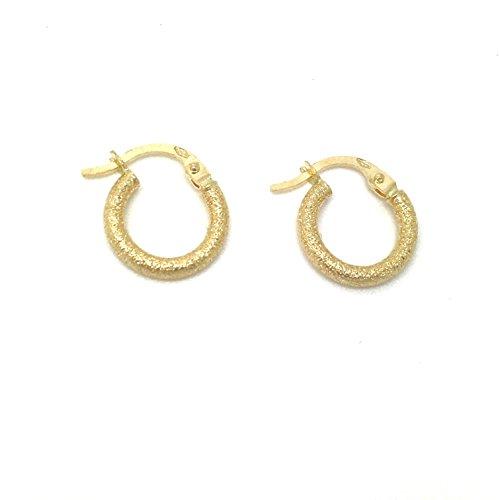 Kleine Gold Ohrringe Creolen aus 18 Karat / 750 Gelbgold (2 x 12 Ø mm) - PRI220