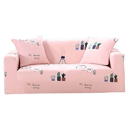 Guiran Sofabezug Sofaüberwurf Sesselhussen Elastisch Hautfreundlich Sofa Überzieher Stil 1 4 Sitzer:235-300cm -