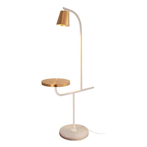 Floor Stand Lights - Nordic Marmor Sockel Stehlampe Mit Tisch Wohnzimmer Sofa Schlafzimmer Nacht Stehendes Licht - Design Fixture Lighting -
