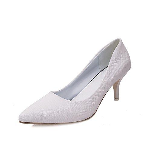 ZHZNVX Tipp High Heels Damenschuhe Koreanische Version des Slim mit Spitze Großhandel Licht der High-Heeled Mädchen, Weiß 39 -