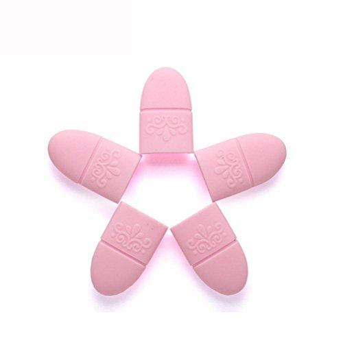 BZLine® 5Pcs Pinces à Ongles / Nail Remover en Silicone - Outil de Décapage de Vernis à Ongles - Pink