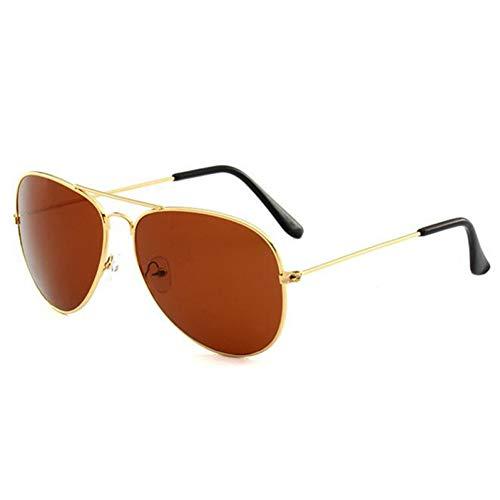 Taiyangcheng Aviator Sonnenbrille Männer Augen schützen Sport Beschichtung Sonnenbrille Sommer Pilot Sonnenbrille Frauen Männer,Tee