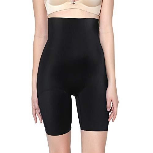 MOVWIN Shapewear Damen Miederhose Bauch Weg Stark Body Shaper Figurenformend Hohe Taille Miederslip Unterhose Taillenformer Firm Foundations für Frauen, Schwarz A, S