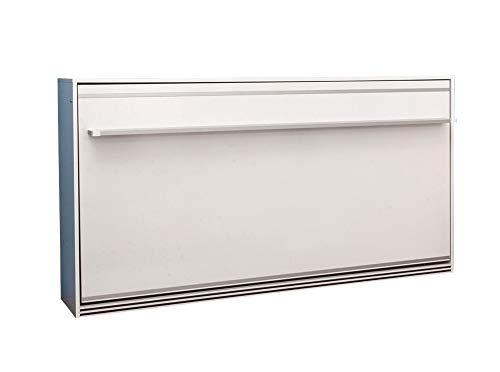 Zata Home Primer Life 90x190 Horizontal weiß Schrankbett, ausklappbares Wandbett, ideal geeignet als Wandklappbett fürs Gästezimmer, Büro, Wohnzimmer, Schlafzimmer