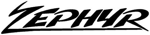 2 x hochwertige ZEPHYR Aufkleber Sticker ca. 20 cm freihstehend ohne Hintergrund Motorrad Bike Tuning Honda Kawasaki Yamaha Ducati Aprilia Suzuki Motorbike Decal Decals`+ Bonus Testaufkleber