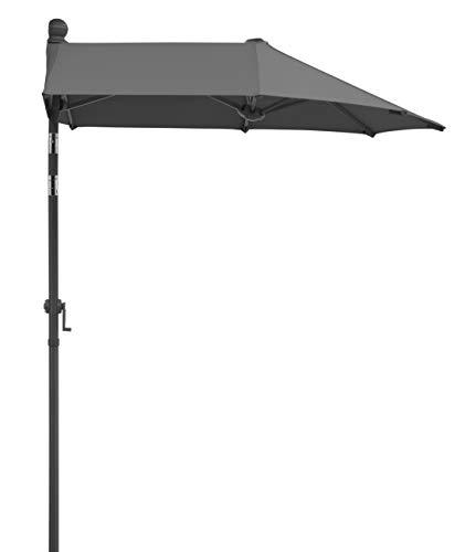 Schneider-Schirme Sonnenschirm Salerno Mezzo, anthrazit, 150 x 150 cm Balkonschirm