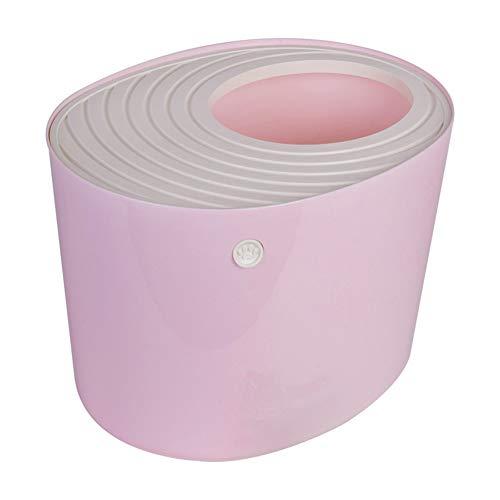 MSQL Geschlossenen Katze Toilette, oberste Eintrag Wurf Pan Cat Katzenklo, mit Sand Schaufel, geeignet für 8kg / 17lbs Hauskatzen,Pink -