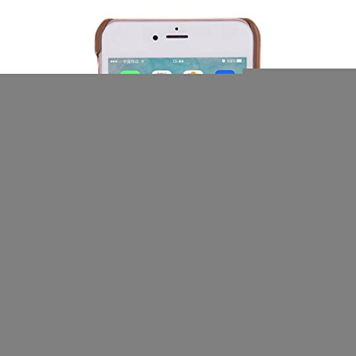 JIALUN-Telefon Fall IPhone 6 S Fall-Abdeckung, Cowboy-Jeans-Beschaffenheits-Muster-harte lederne rückseitige Plastikabdeckung für IPhone 6S ( Color : Brown , Size : IPhone 6S ) Red