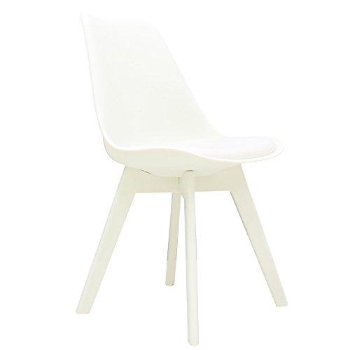 mojoliving MOJO Design Stuhl Esstischstuhl Plastik Gestell in weiss S29