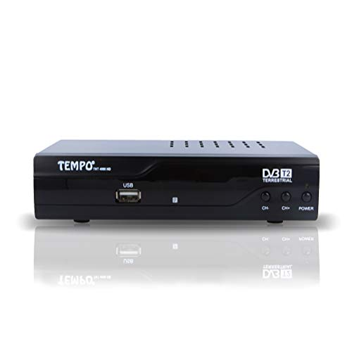 Tempo 4000 TNT Receiver Digital - H.265 HEVC/HD / DVB-T2 / Kompatibel Kanäle/HDMI Full HD USB