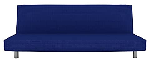 Eiffel textile Nîmes clic-clac–Housse canapé 160 x 195 x 2 cm bleu