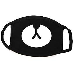 DDG EDMMS máscara Lindos de la mufla Máscara máscara de Polvo de algodón Oso Negro para niños y niñas de 1 Equipo Cuidado Personal