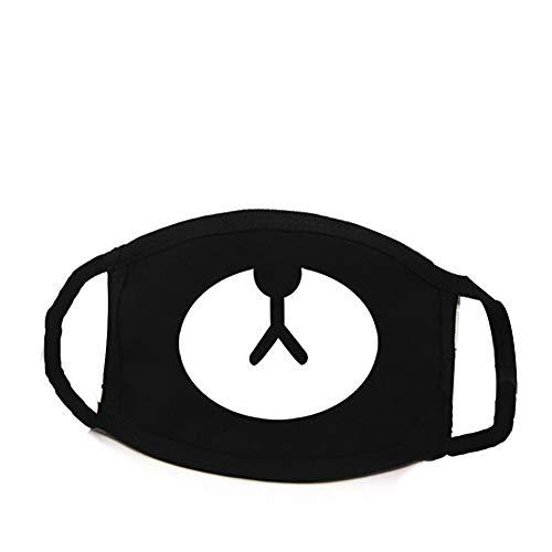 Linda Boca máscaras Kawaii mufla máscara Negro Oso