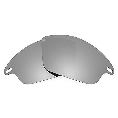 Verres de rechange Revant polarisés Titanium pour Oakley Fast Jacket