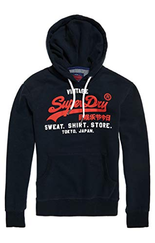 Superdry Sweat Shirt Shop Duo Hood, Pull Homme, Bleu (Eclipse Navy 98T), X-Larg