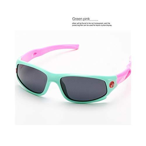 Vikimen Sportbrillen, Angeln Golfbrille,Cute Baby Polarisiert Sunglasses Kids Child Girls Boys Sport Goggles TR90 Polaroid Sun Glasses Shades Infant Oculos S816 Green (Bulk Hochzeit Sonnenbrille)