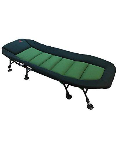 Zfish Super Royal Bedchair 8-Leg Karpfenliege, Grün/Schwarz, XL