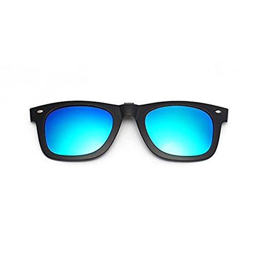 Clips polarizados y espejados que se levantan para gafas de sol, de plástico, celeste, Ray Ban, para hombres y mujeres, para usar todo el año