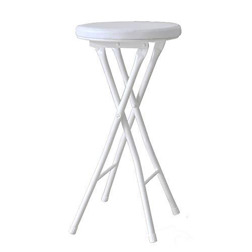 LP Bar stool Gepolsterter faltender Hochstuhl rundes Frühstück Küche Barhocker Möbel kompakter Hochstuhl (Farbe: schwarz, braun, weiß) - Stoff-leder-bar Hocker