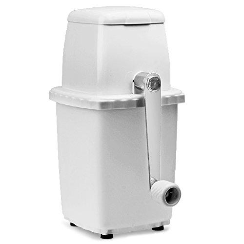 bar@drinkstuff Eiscrusher aus weißem Kunststoff - Cocktail Eiscrusher Manuelle, Eiswürfelzerkleinerer maschine, Für den Hausgebrauch - Großartig für Mojito Cocktails! (Maschine Crusher Eis)