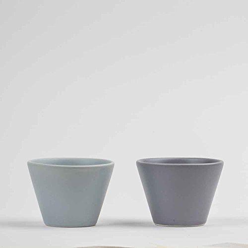 Federica Bubani verres mat bols 2pz céramique gris fait à la main 100% fabriqué en Italie