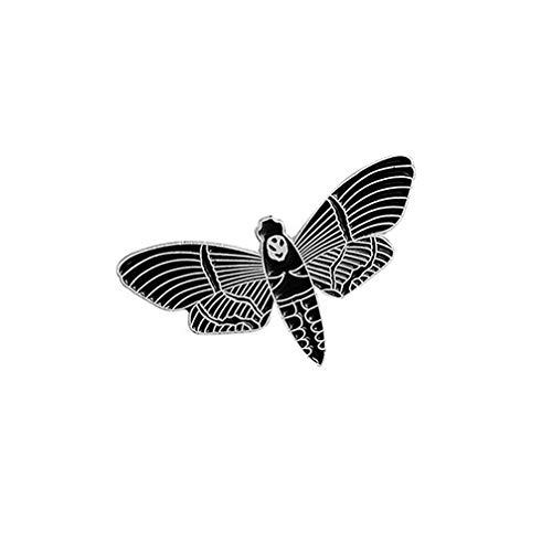 (Toporchid Gothic Bebe Bat Emaille-Revers-Stifte Unisex Kreatives Design Illustratoren Dark Art Skeleton Pin, Style5)