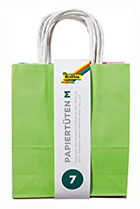 Folia 21809/7  - Bolsas de papel con asa (18 x 8 x 21 cm, 7 unidades) varios colores Importado de Alemania