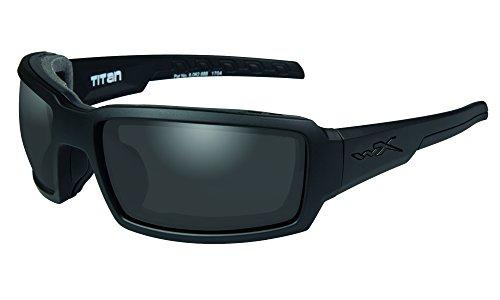 2db84737ffd40 Wiley X Adultos Titan Black Ops – Gafas Protectoras 5.8087 Gafas