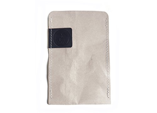 © 3Wind Knoten waschbar Papier Handy Case mit Leder Detail, iPhone 6Hülle, Leder, grey + black logo, 11 x 16,5 cm