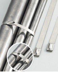 Edelstahl Kabelbinder 400x4,6mm 10St. bis 110mm Bündel von NETPROSHOP auf Lampenhans.de