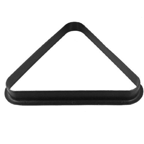 sourcingmap® Triangle de billard en plastique noir Table porte-Pour 8 ballons