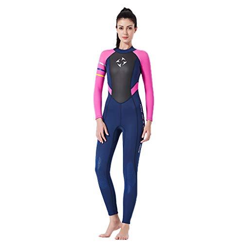 AIni Damen Neoprenanzug,Sexy Sport 3mm Tauchanzug Ganzkörper Tauchanzug Surf Schwimmoverall Wetsuit Schwimmen Surfanzug Surfen Tauchen (S,Pink)