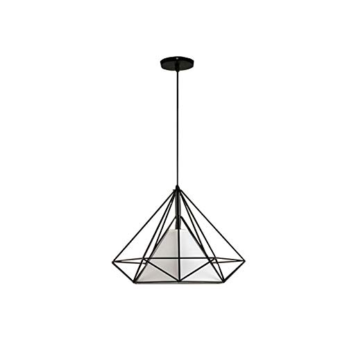 Dyna-Living Geometrische Pendelleuchte,Beleuchtung Polygon Loft Art Deco Vintage Wire Anhänger Küche Kronleuchter(Weiß) -