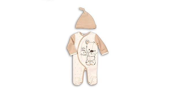 Cuddle Unisex Baby Boys Girls 2 Piece Sleepsuit Romper /& Hat Set By Babaluno