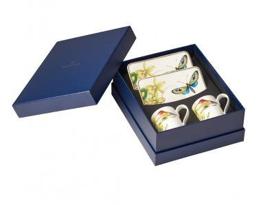 Villeroy & Boch Amazonia Set Expresso, 4 pièces, Porcelaine Bone China, Multicolore