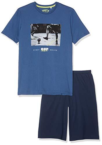 Sanetta Jungen Pyjama Short Zweiteiliger Schlafanzug, Blau (Ink Blue 50096), 140