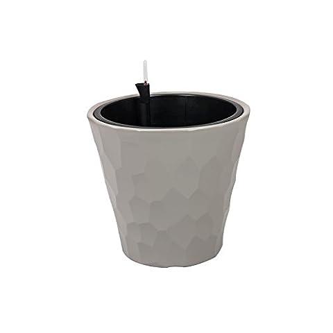 Cache-pot mocca marron Rocka 29 bac récipient plastique pot irrigation
