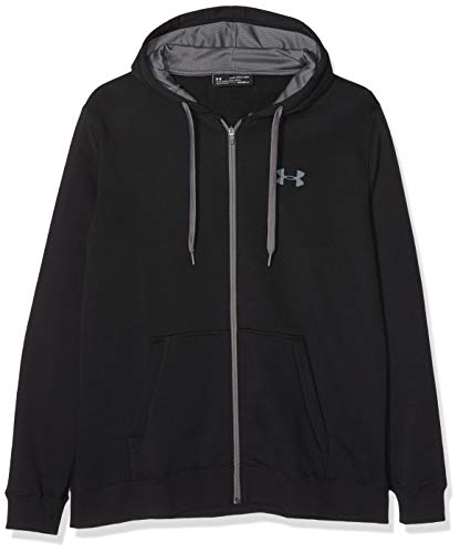 Zip-liner (Under Armour Herren Rival Fitted Full Zip Oberteil,schwarz,M)
