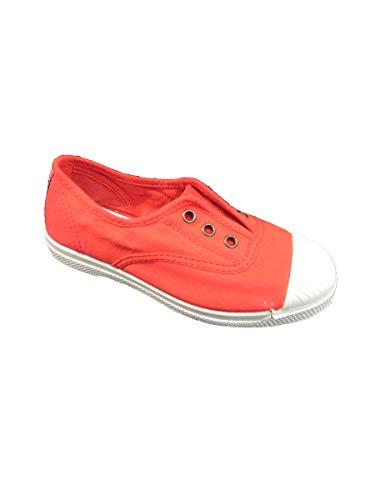 Natural World Chaussures en Coton avec Fond de Caoutchouc Unisex 470502 Rouge Taglia: 24