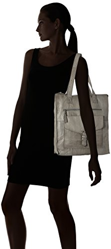 PIECES - Pcabby Leather Shopper Noos, Borse a spalla Donna Grigio (Elephant Skin)