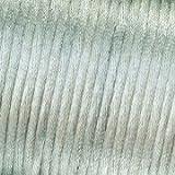 Kumihimo 1mm x 6m Satin Weave Kordel, Silber